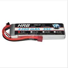 HRB RC Battery 7.4V 4200mah 35C Lipo Battery AKKU For Helicopter Airplane Quadcopter DJI Drone