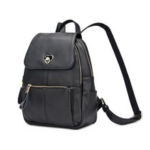 DOODOO Lady Genuine Leather Backpack Designer Brand School Backpack Vintage New Korea fashion Motorcycle Backpack Female T286(China)