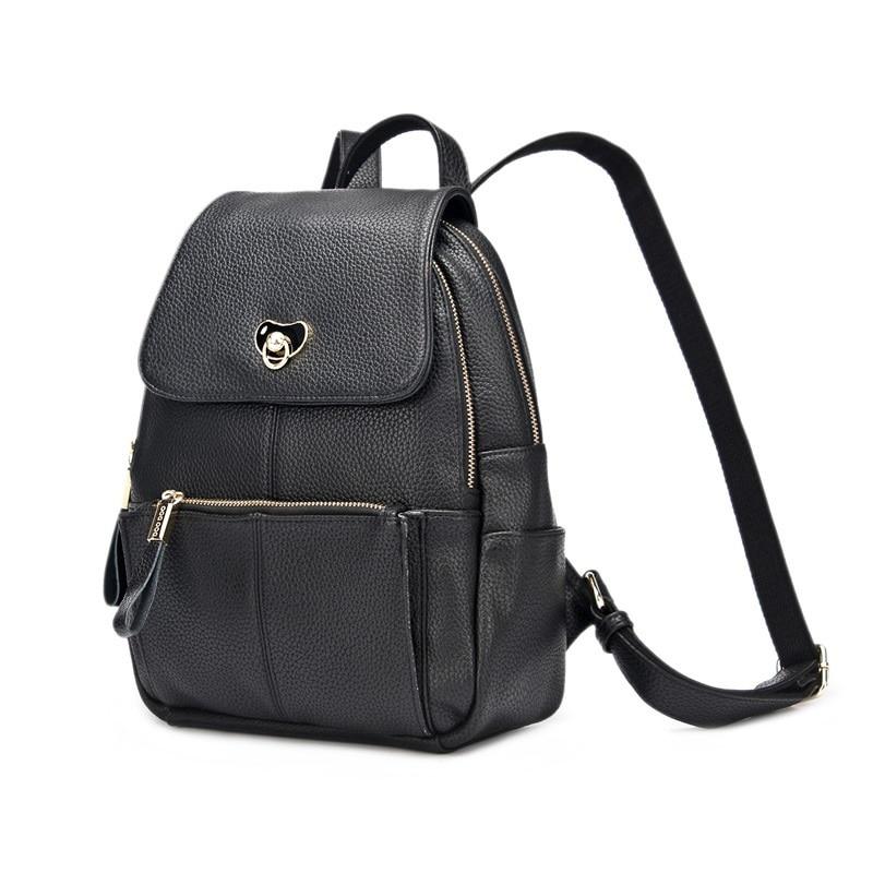 DOODOO Lady sac à dos en cuir véritable Designer marque école sac à dos Vintage nouvelle corée mode moto sac à dos femme T286