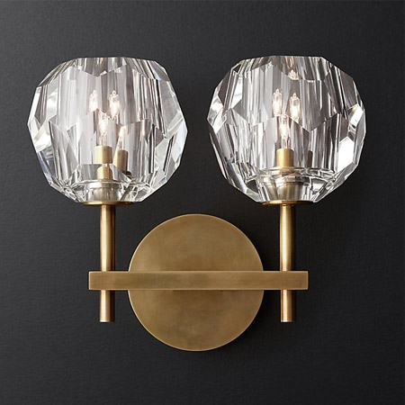 modern Retro crystal Wall Lamp gold iron Restaurant Cognac indoor lighting bedside lamp Wall Lamp sconce