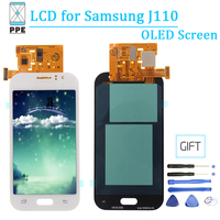 For Samsung Galaxy J1 ACE Lcd Display J110 J110F/DS J110H J110M OLED Touch Screen Glass Replacement 4.3 Pantalla Black White