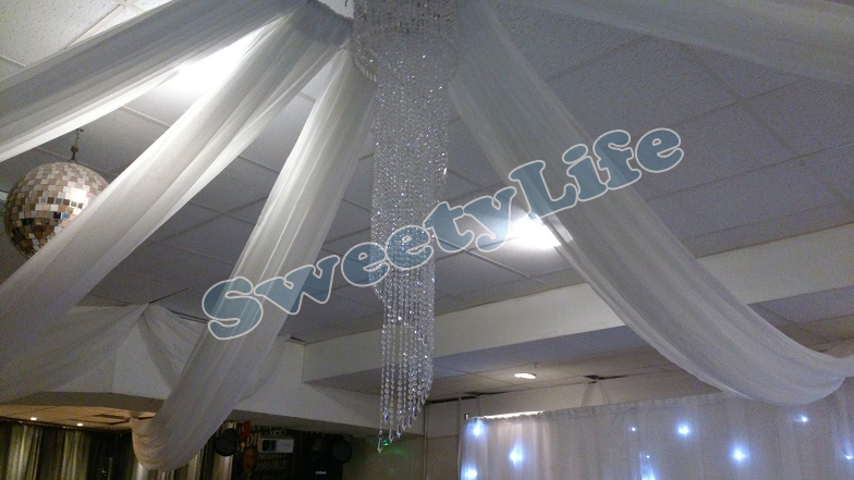 boda unidades del techo cortina dosel de tela cortinas para la decoracin de la boda