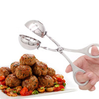 Multifunction Meatball Maker Stainless Steel Stuffed Meatball Clip DIY Ice Cream Fish Meat Ball Maker Kitchen