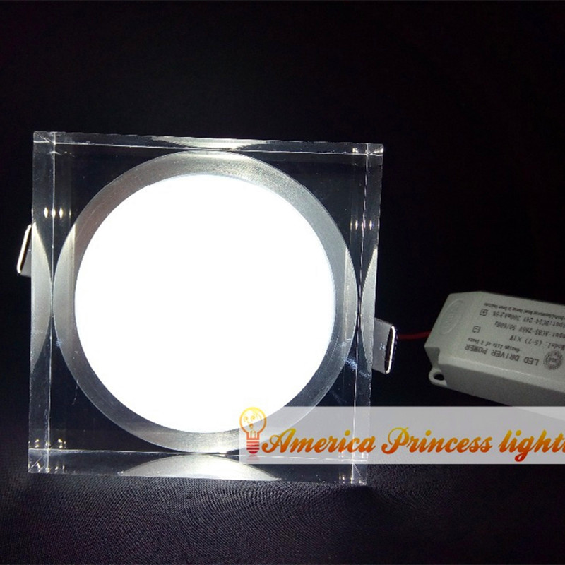 Free shipping 6W Acrylic Crystal Square Cabinet Light LED Downlight Ceiling AC110-240V, star lights