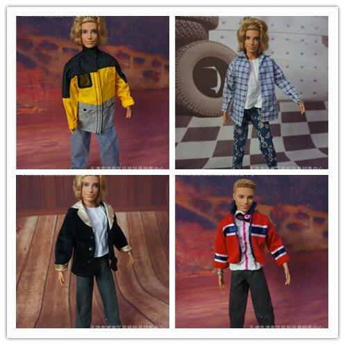 5 uds 1/6 accesorios ropa de muñecas de moda ropa de muñecas ropa casual traje de moda para 1/6 ken 1:6 modelo de pistola de plástico montar arma de soldado para 12