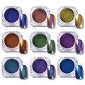 0.5g Top-Grade Camaleón Polvo de Uñas Polaco UV Gel Manicura Hermosa Glitters Nail Art Pigmento de Cromo Negro Base Necesidad del color