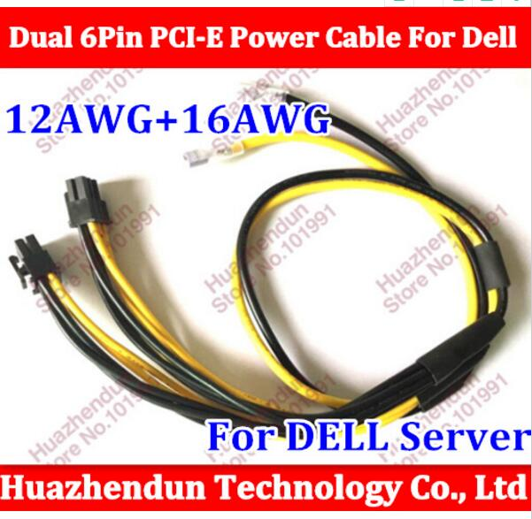 Free via DHL/EMS 500PCS Dual 6Pin PCI-E Power Cable For Dell 1470 BTC 12AWG+16AWG Miner Machine server  (part 2) free ship via dhl ems new original mac pro n vidia geforce 7300gt 256mb for 2006 2007 video card 1gen pci e graphic card