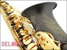 FREE SHIPPING DHLSELMER 54 saxe e alto saxophone musical instrument matt black pearl