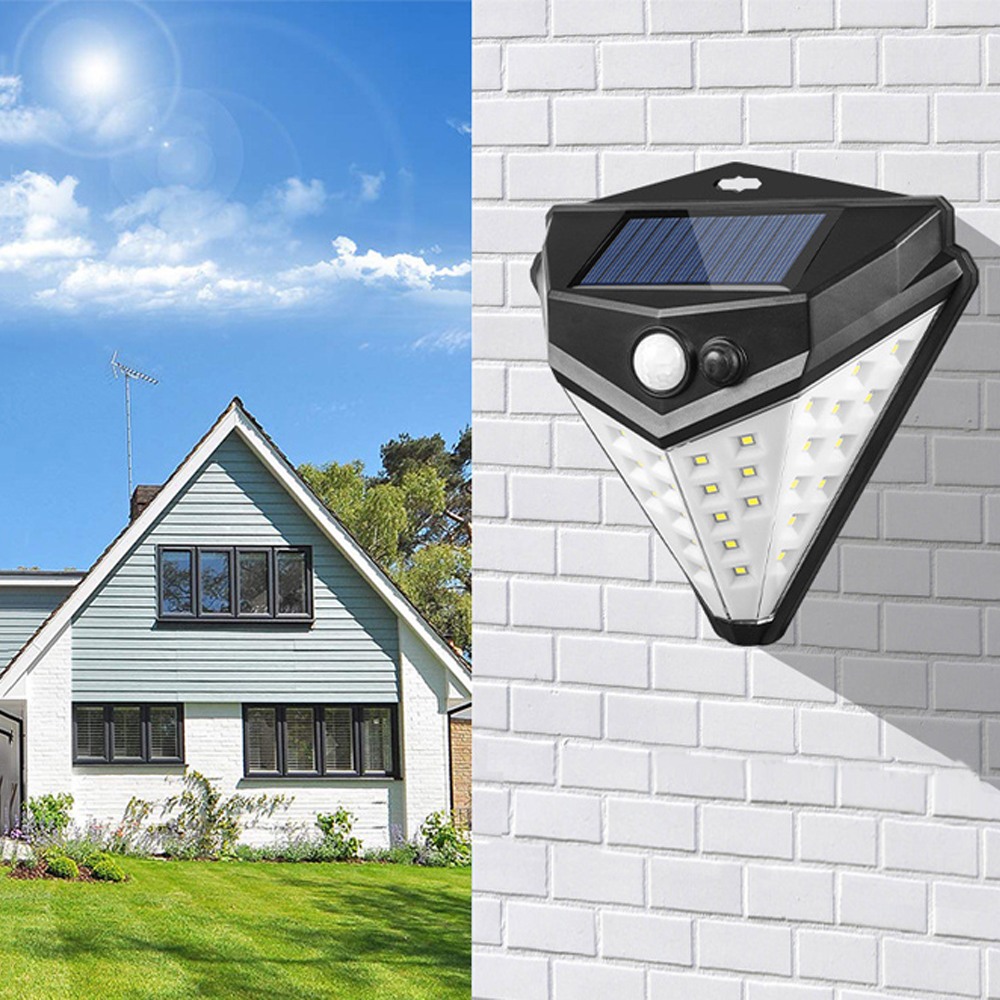 38 LED Solar  Modes Motion Sensor Outdoor 4pcs Solar Power Lamp Waterproof Security Energy Saving Garden Wall Lights