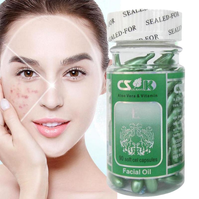 Face Care Vitamin E 90Pcs Extract Face Cream Anti Wrinkle Whitening Cream Anti Aging Moisturizing Wrinkle Remove