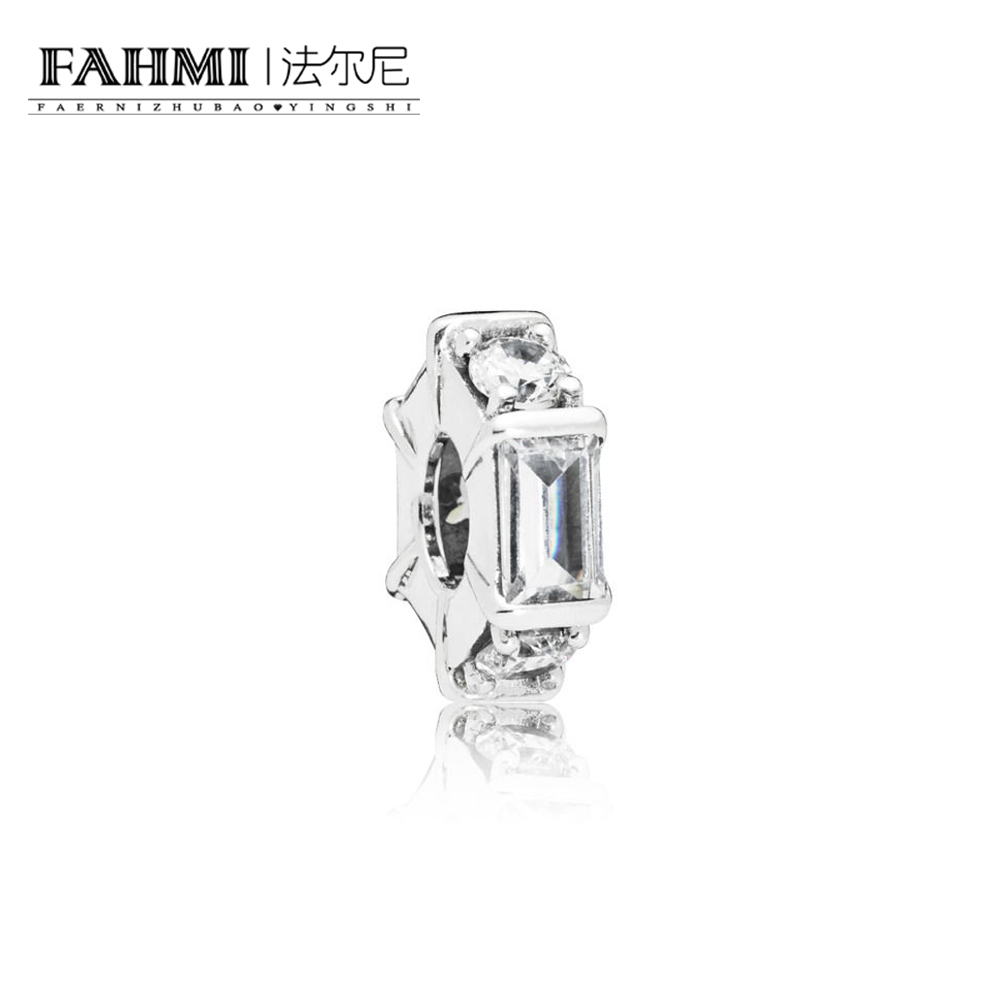 FAHMI 100% 925 Sterling Silver New 797529CZ Ice Sculpture Spacer Charm Original Women's Jewelry Suitable Charming Gift