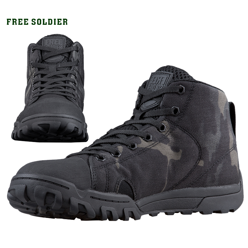 FREE SOLDIER outdoor sport tactical military men's shoes multi cam soft lightweight trekking shoes for camping hiking