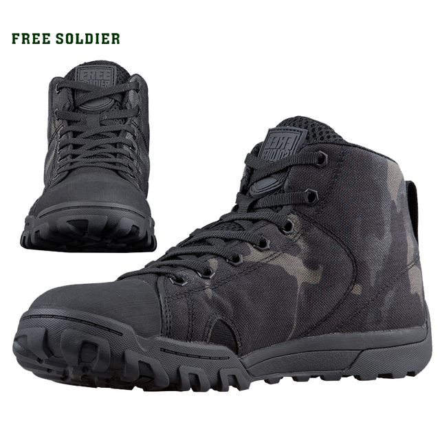 FREE SOLDIER outdoor sport tactical military mens shoes multi cam soft lightweight trekking shoes for camping hiking