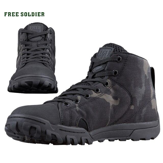 FREE SOLDIER Спортивные тактические военные мужские ботинки мягкие лёгкие для кэмпинга, прогулок, пробежек, восхождений в гору, скалолазания