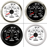 40~120 Celsius 52 mm Boat Car Water Temperature Gauge Digital Thermometer Water Temp Gauge meter Backlight 9 32V