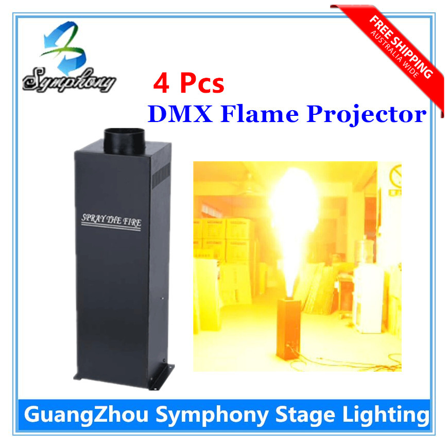 4pcs/lot Flame Projector Stage Fire machine, DMX controlled Flame projector,fire Machine,stage flame machine High Quality