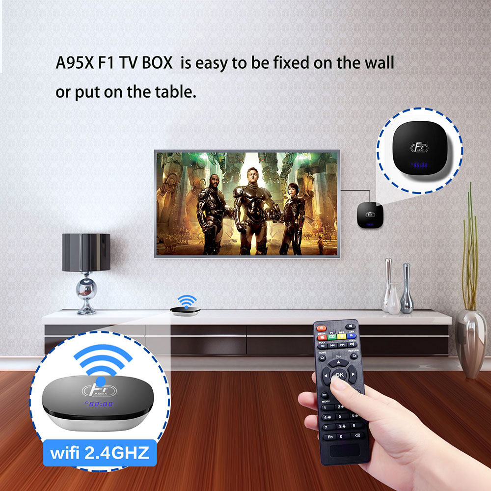 A95X F1 Smart TV Box Android 8 1 Set Top Box Amlogic S905W 4K 2GB 16GB  2 4GHz WiFi Media Player PK X96 mini TV Box
