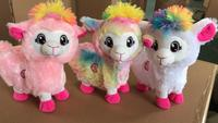 New Hot 20cm Boppi Pets Alive Llama Sleep Twisted Ass Electric Plush Doll Without Battery Alpaca Toy Children's Gift S65