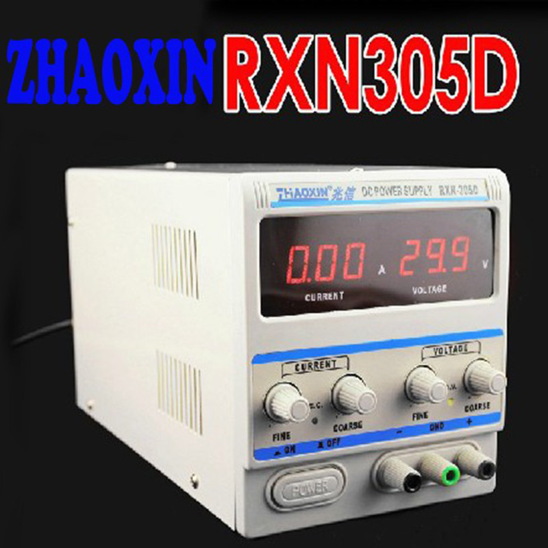 220V Zhaoxin RXN-305D Series Linear Adjustable DC Power Supply 0 ~ 30V,0 ~ 5A импульсный источник питания zhaoxin em trust rxn 303d 30v 3a