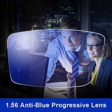 Anti-Blue Ray Lens 1.56 Free Form Progressive Prescription Optical Glasses Beyond UV Blue Blocker For Eyes Protection