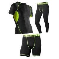 3 Pcs/lot Mens Thermal Underwear Quick Dry Technology Surface Elastic Force Summer Long Johns Men Lucky John Men Leggings Shorts