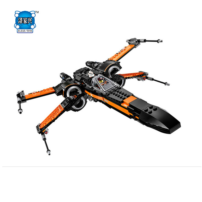 HOT sale Building Blocks Assembled Star First Wars Order Poe's X Toys Wing Fighter Compatible Lepins Educational Toys DIY Gift hot sale building blocks assembled star first wars order poe s x toys wing fighter compatible lepins educational toys diy gift