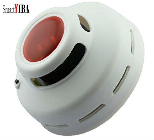 SmartYIBA High Sensitivity Independent Wireless Smoke Detector Sensor Fire Alarm Sensor Home Security Accessory Battery Power