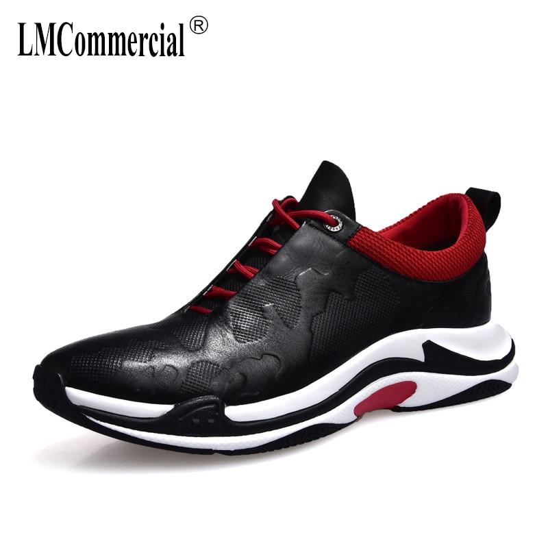 Nova Do Casuais Respirável Botas Todos Couro 2018 De Lazer Moda Sneaker Homens Genuíno Dos Jogo Sapatos Os R4w06pqp