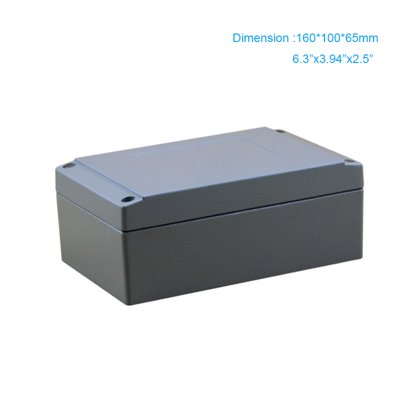 Whole Sell Industrial Electric Waterproof Junction Terminal Aluminum Box / Metal Enclosure IP67 160*100*65mm FA26 цена