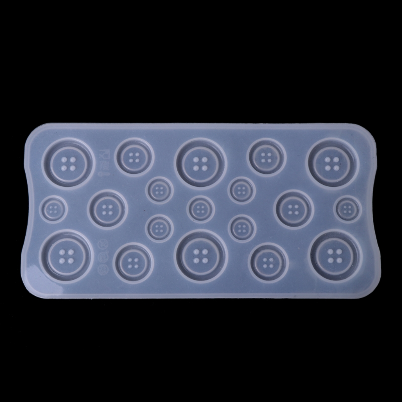 DIY Button Clear Silicone Mold Making Jewelry Casting Epoxy Mould Craft Tool New