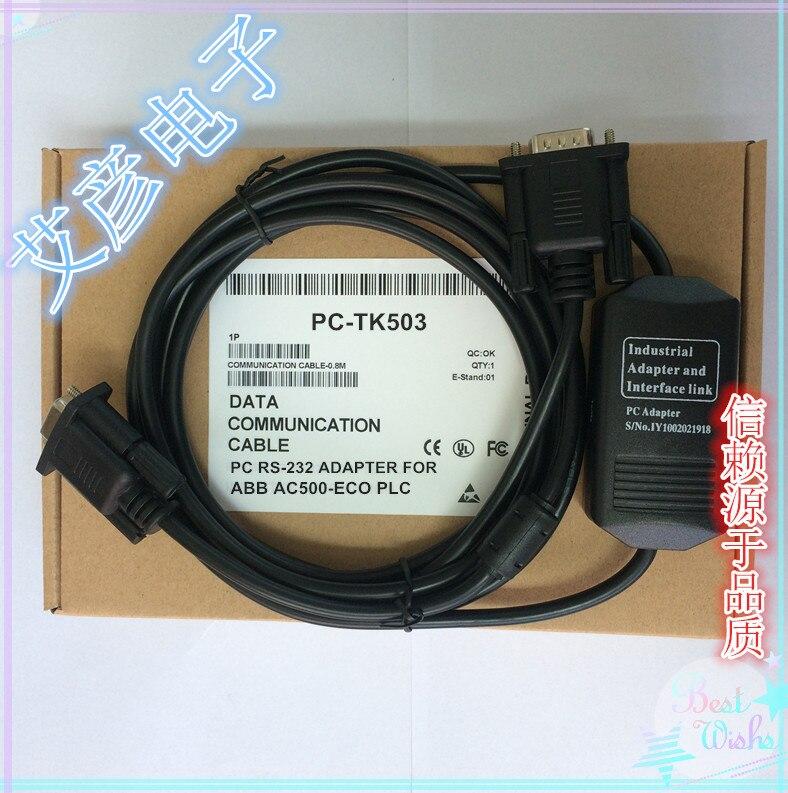 ABB Debug Line AC500-Eco Series PLC Programming Cable Download Line PC-TK503 RS232 Serial Port