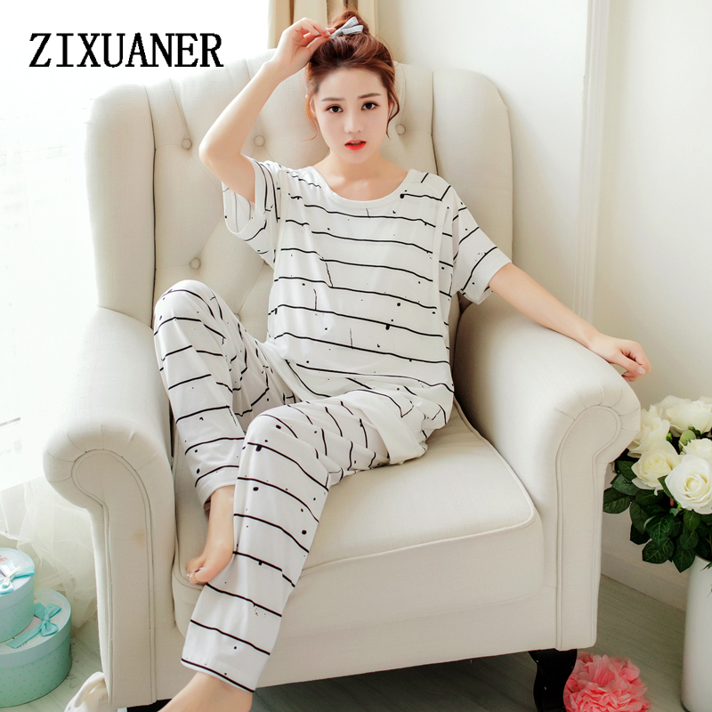 6baa41436 ZIXUANER Camisones Pijamas Cortos para mujeres Embarazadas Lactancia de  Enfermería de Maternidad ropa de Dormir De Algodón Loungewear Ropa Fijada en  Para ...