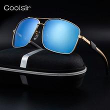 New 2017 vintage gafas de sol polarizadas diseñador de la marca de conducción aviator gafas de sol hombres marco de metal de moda de lujo/de viaje gafas de sol hombre