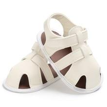 Summer Newborn Baby Boys Shoes PU Leathe