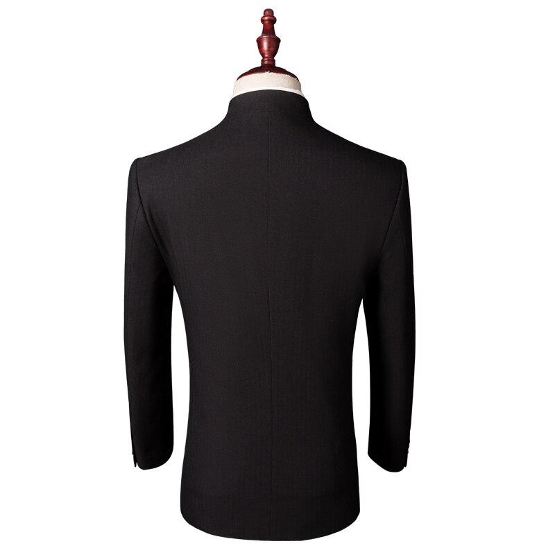 Pantalon 1 Stand Col Blazer Mens Smoking Ensemble Costume Manteau Hommes Lates Fit Chinois Plus Slim Pièce Designs Pantalon veste Taille Noir Style tqxwvrazt