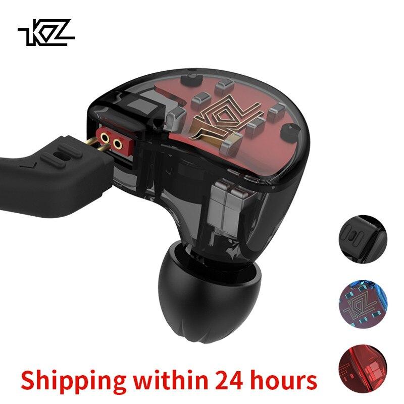 KZ ZS10 Casque 4BA + 1DD Dynamique Armature Écouteurs HiFi Basse Casque Antibruit Dans L'oreille Moniteurs hybride Écouteur + bluetooth