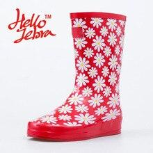 Женские красные резиновые ботинки; цветные женские сапоги до середины икры на среднем каблуке; нескользящие резиновые сапоги с круглым носком из водонепроницаемого материала; новинка 2016 года; модный дизайн