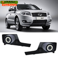 EEMRKE For Geely Emgrand X7 2in1 COB LED Angel Eye DRL H11 55W Halogen Fog Lights Lamp Daytime Running Light