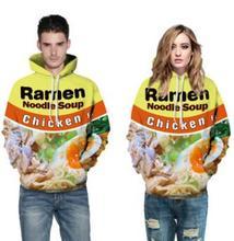 2019 Fashion Loose 3D Print Long Sleeve Hooded Sweatshirts Couple Hip Hop Autumn Coat New Tops
