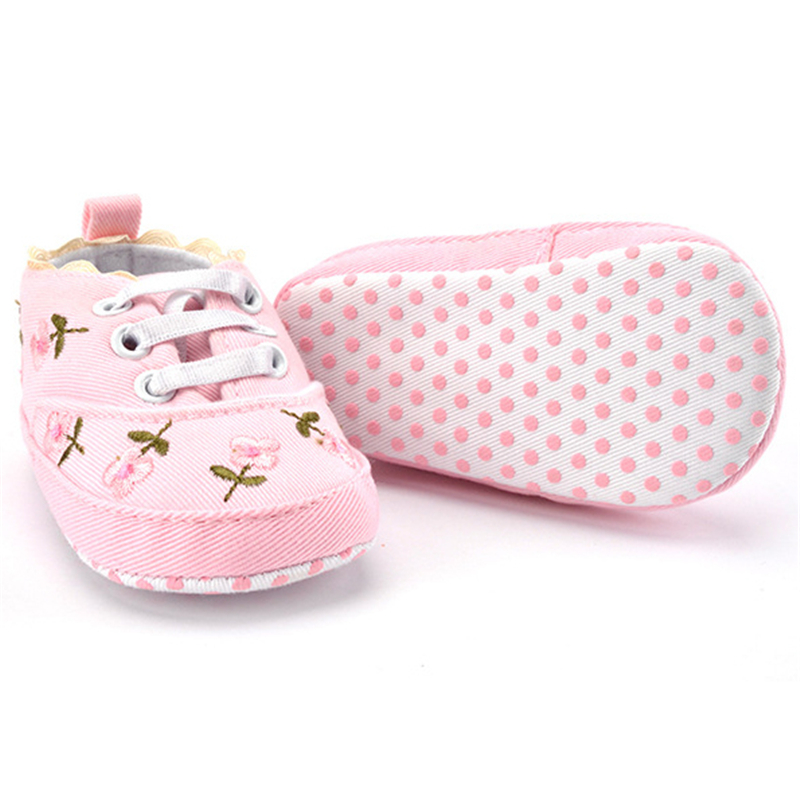 2020 fashion spring autumn baby infant girl shoes for newborn print floral baby girls soft sole first walkers anti-slip baby shoes for 0-18m