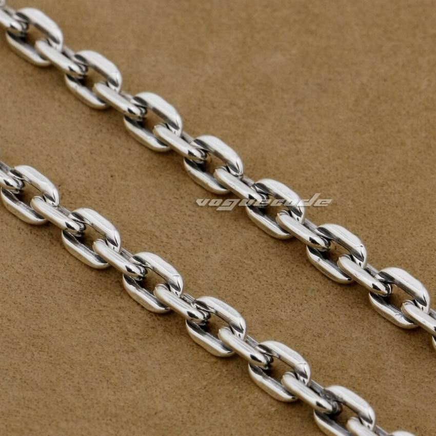925 Sterling Silver 4mm Square link Chain 8L010D Pendant Matching Necklace