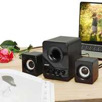 2.1 Desktop Computer Speaker Mini Multimedia Heavy Bass Subwoofer USB 3.5mm 3W Stereo Sound Surrounding FOR PC Laptop DVD TV