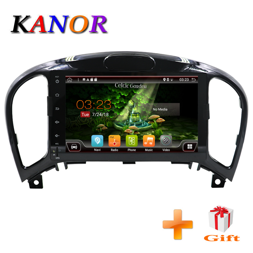 KANOR Octa Core Android 7.1 2+32g 1024*600 2din Car Radio for Nissan Juke 2004-2012 in dash 2 din car gps navigation wifi usb kanor octa core android 7 1 2 32g 1024 600 2din car radio for nissan juke 2004 2012 in dash 2 din car gps navigation wifi usb