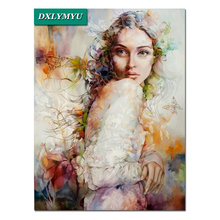 hot 5D Diy Diamond Painting Beautiful flower fairy Wall Stickers Home Decor Cross Stitch Kits Mosaic Embroidery