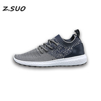 2017 Flying Men Single Shoes Summer Breathable Leisure Fashion Tide Knitted Mesh Coconut Comfortable Shoes Men