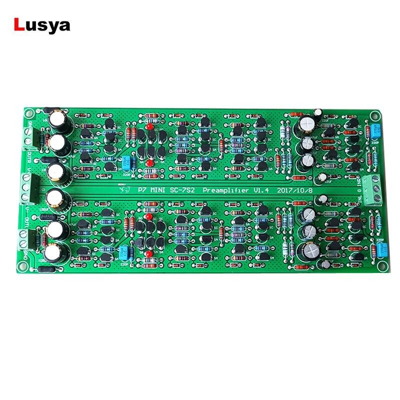 7 SC-7S2 Preamplifier P7 Fully Separation HIFI Tube Preamplifier Vacuum Tube Phono Amplifier Base On Marantz DIY Kits