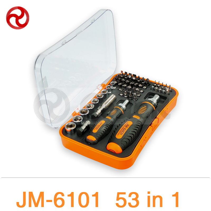 JAKEMY 53/43 in 1 Screwdriver Set 180 Adjustable Magnetic Ratchet Laptop Computer Household Auto Car Mechanic Repair Tools Kit