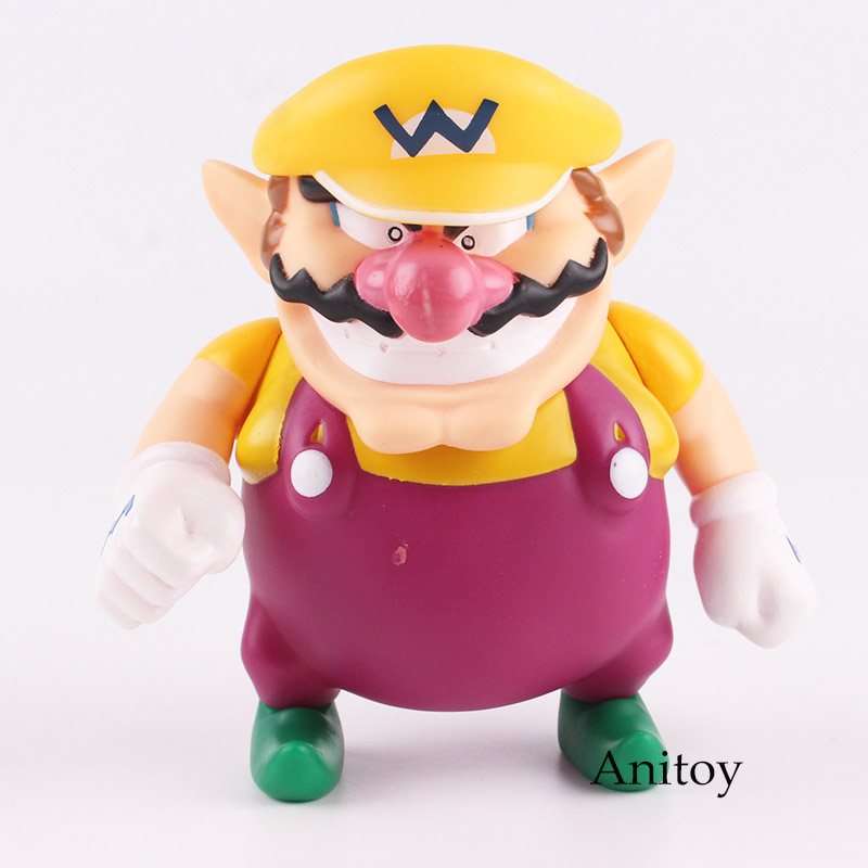 Super Mario Bros Figures Wario Action Figure PVC Collectible Model Toy for Kids Gift 12cm action figure toys the flash man green lantern action figures collectible pvc model toy gift for kids 20cm