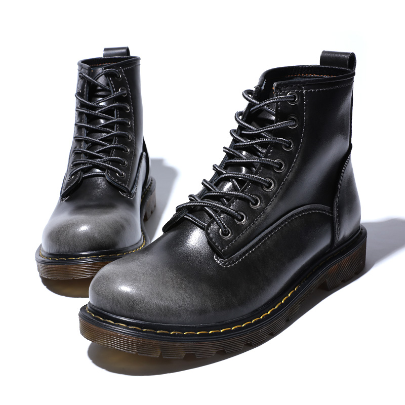 Ботинки; мужские Ботильоны; зимние кроссовки из натуральной коровьей кожи; нескользящая Водонепроницаемая Рабочая обувь - 6