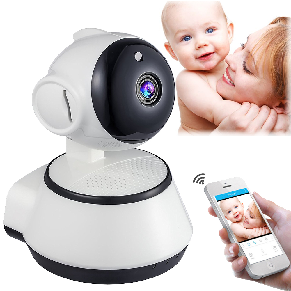 Home Security 720P HD Mini P2P IP Camera 1MP Wireless Wifi Pan/Tilt Two Way Audio Video Camera Onvif Night Vision CCTV System wireless security camera pan tilt zoom indoor wifi two way audio night hd 720p ip wifi camera support smartphone remote view